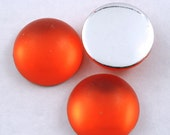 20mm Frosted Orange Cabochon (10 Pcs) #286