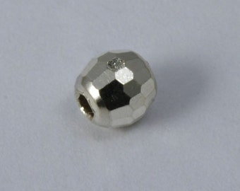 Sterling Silver 4mm Faceted Round Bead  #BSB081