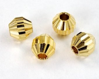 6mm Grooved Octagon Bead (6 Pcs) #2425