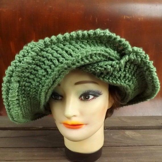 Crochet Pattern Hat Womens Crochet Hat by strawberrycouture