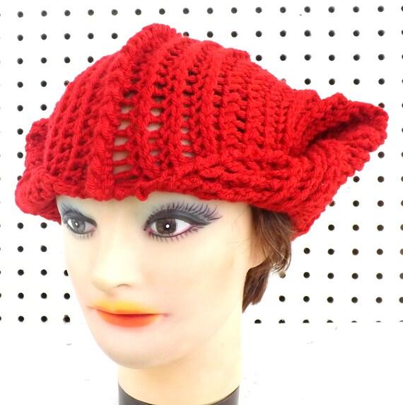 Fox Hat Pattern, Crochet Pattern for Womens Hat, Crochet ...