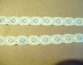 Stretch Lace Pale YELLOW IVORY 7/16 inch HEADBAND 5 yds. Lingerie Headband