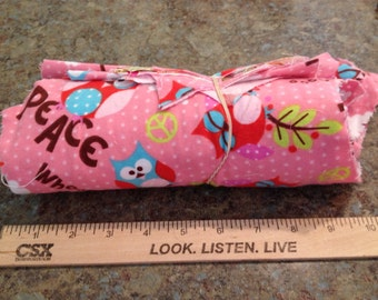 Destashin' for Disney - Owl fabric scraps and remnants