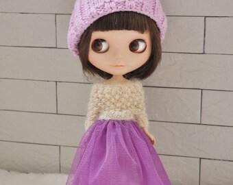 Babydoll TUTU Skirt for Blythe-Purple