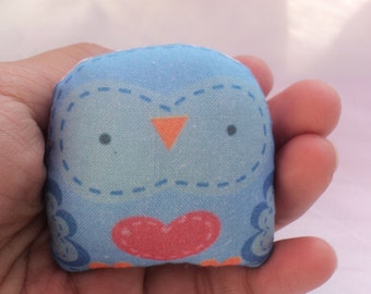 "cute mini owl -- "" öökull "" (blue) -- charm /decorative softie/ ornament/ decoration/plush owl decor/ kawaii-- ( ship in 1 day )"