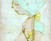 Print of my digitally enhanced sketch - Close to You -  by Diane Duda