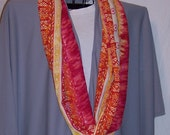 Bright Orange, Yellow, Red, Pink Infinity Scarf