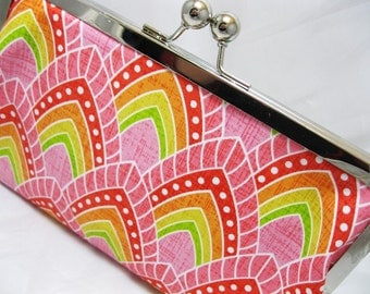 Coupon Organizer Purse PInk Abstract