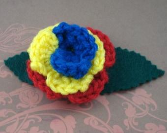 Crocheted Rose Lapel Pin - Hero (SWG-PL-HEFC01)