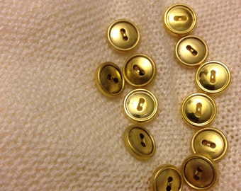 10 Gold Round Buttons (Free Item With Purchase)