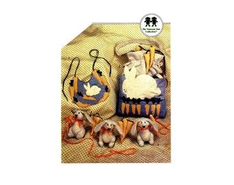 Baby Infants Bunny Bib Diaper Bag Crib Toy Simplicity 6427 Vintage Sewing Pattern Babies Vanessa-Ann UNCUT