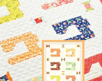 MINI Stitch quilt pattern wall hanging from Fig Tree and Co.