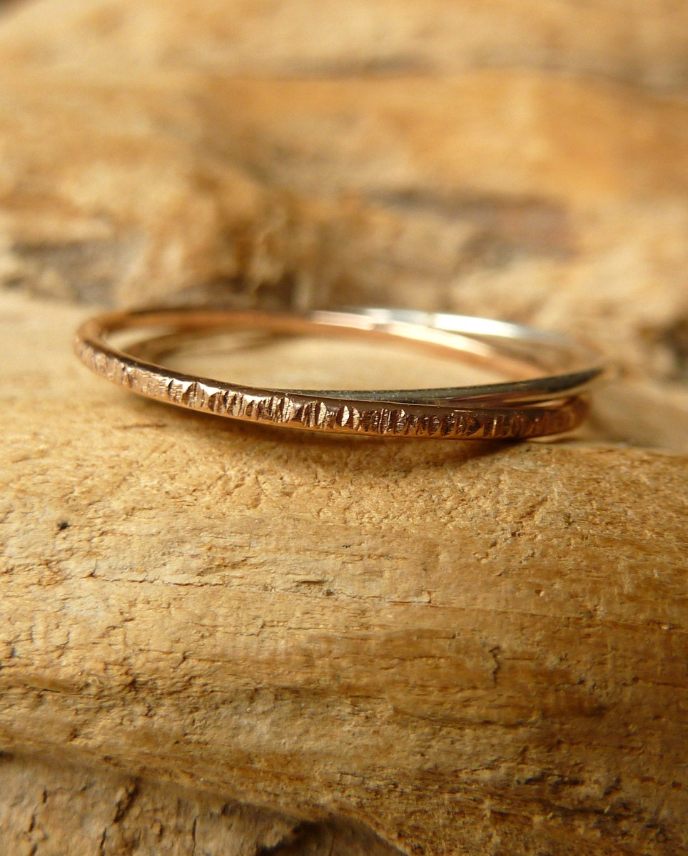 better together rings 14k gold silver by kateszabone