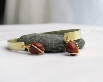 Inspirational Cuff Bracelet - Joy, Balance, Intuition, Peace - Inspirational Yoga Jewelry