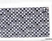 Black White Chess Corkboard, Cork Bulletin Board, Tack Board, Cork Pin Board, 17x11 Cork Message Board, Dorm Decor, Gift For Him