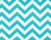 Chevron Curtain Panels Aqua Blue 50 inches wide : Chevron Draperies Zig Zag