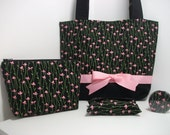 Medium Tote Bag with Accessories Rhapsody Floral