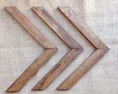 Skinny Wood Wall Arrow Set of 3