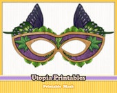 Printable Masquerade Butterfly Mask - Purple