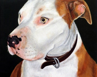 """Custom Pet Painting 6"""" x 8"""" Your Dog Cat or Horse Any Animal Art by Sharon Lamb"""