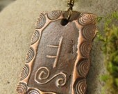Oak -Celtic Tree Astrology Ogham Copper Pendant, Celtic Tree Oracle, Connemara Marble, Irish Celtic Jewelry, Necklace