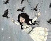 Taken by Bats.. 14x11 giclee print