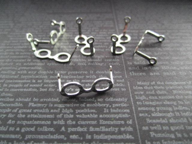Tiny Eyeglass Frames Doll Eyeglasses SILVER TONE Jewelry