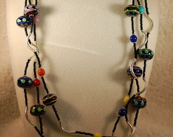Mother Beads Navajo Detail Necklace