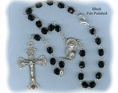 Handmade Czech Glass Car Rosary ~ Choose your favorite color combo
