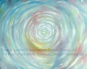 12 x 8  Angel Energy Vortex  by Eileen Anglin