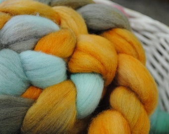 Hand Painted Merino Wool Roving 3.8