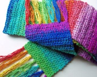Scarf Unisex Rainbow Colors Long