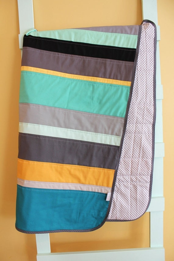 Modern baby quilt by petunias boy strip stripe by petunias - Vintage antique baby room ideas timeless charm appeal ...