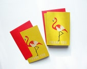flamingo thank you note set