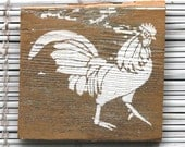 Rooster Wall Hanging on Reclaimed Barn Wood