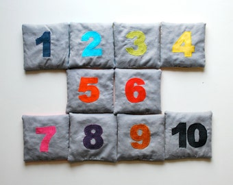 Counting Bean Bags--Solid Rainbow Set