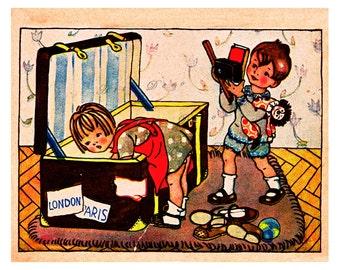 Vintage Children's Book Illustration ...digital illustration no.  579