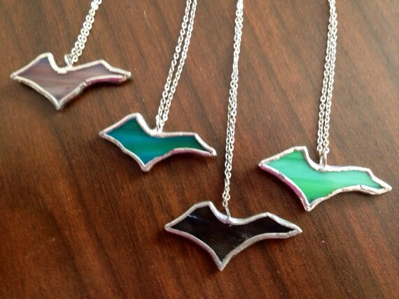 U.P. Upper Peninsula charm pendant necklace with chain