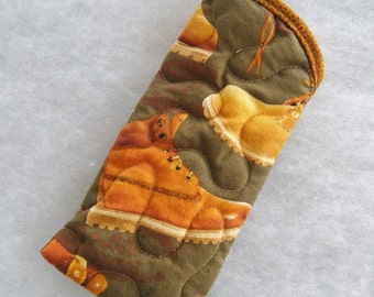 Quilted Sunglass/Eyeglass Case - Work Boots