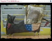 Welcome Spring Sale Primitive Independence Day Cat
