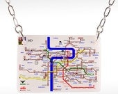 Prague Subway Necklace - Prague necklace, prague jewelry, prague gift, prague subway, subway necklace, photo necklace