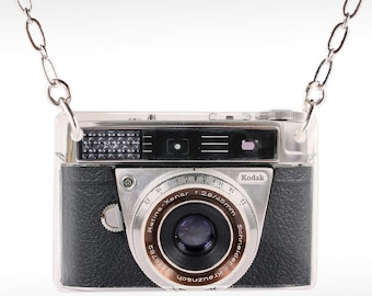 Kodak Camera Necklace - Camera Necklace - Camera Jewelry - Old Camera Necklace