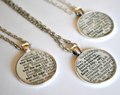 CUSTOM Dictionary Necklace - Recycled Book Jewelry - Your Choice of Word - Round Pendant