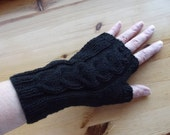 ARMWARMERS/FINGERLESS GLOVES/Black Fingerless Ladies-Womens Gloves-Wrist Warmers Fingerless Glove Arm Warmers-Ready to Ship