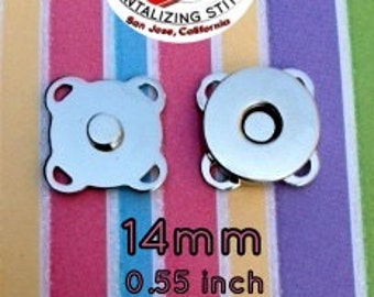 67 Sets Nickel Plated Sew In 14 mm Magnetic Snap Closures