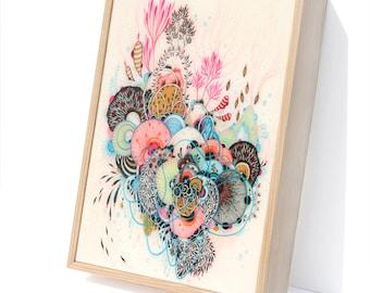 Glimpse - Resin-Coated Print on Wood Panel