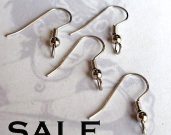 Dark Rhodium Plated Earring Hook Findings (24 Pair) (F573) SALE - 50% off
