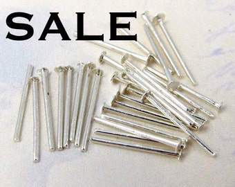 Silver Plated Headpins (60 grams - approx. 1200x) (F574) SALE - 90% off
