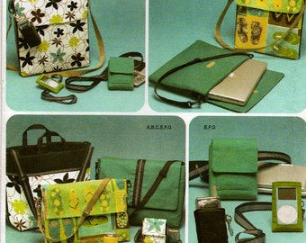 Uncut Simplicity 4391 LAPTOP TOTE MESSENGER Bag Pattern Cell Phone Case Electronics Case Camera Case Accessories Sewing