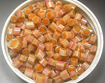 Murrini Chips COE 104 BAHAMA MAMA murrine glass can be used with torch fired copper enameling
